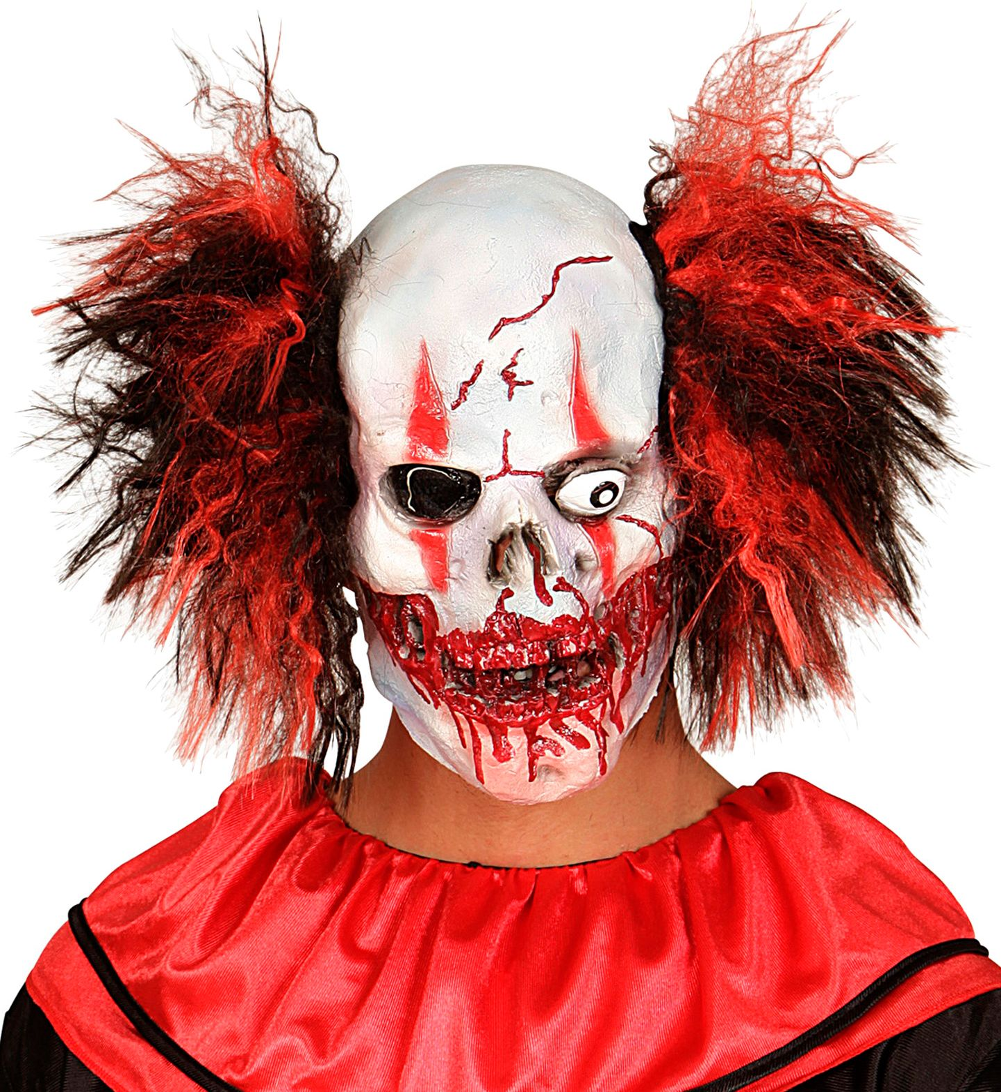Bloederige killer clown masker