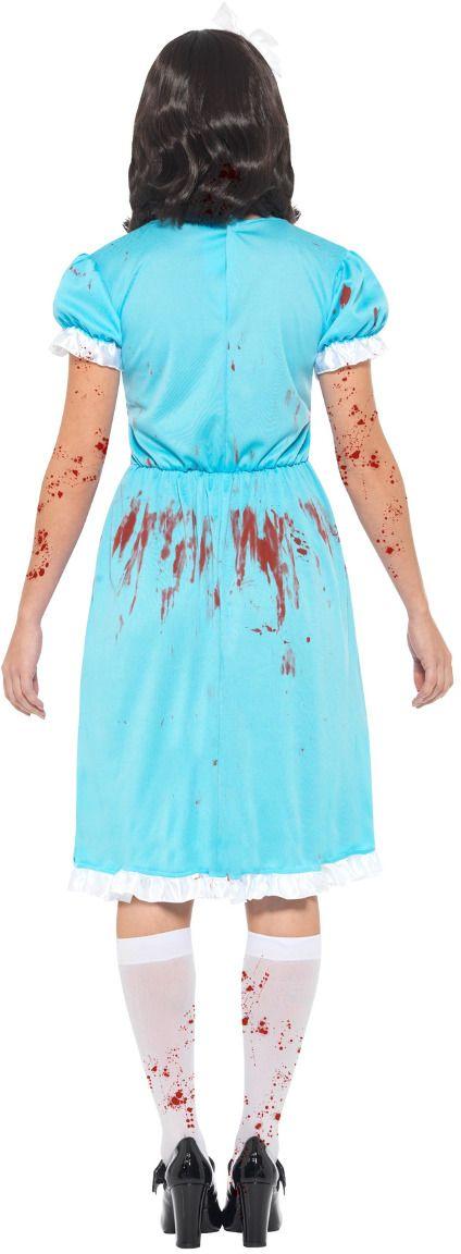 Bloederige moordlustige dames kostuum blauw