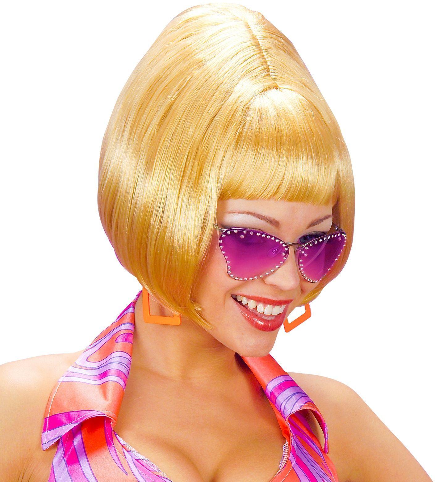 Blonde 70's pruik