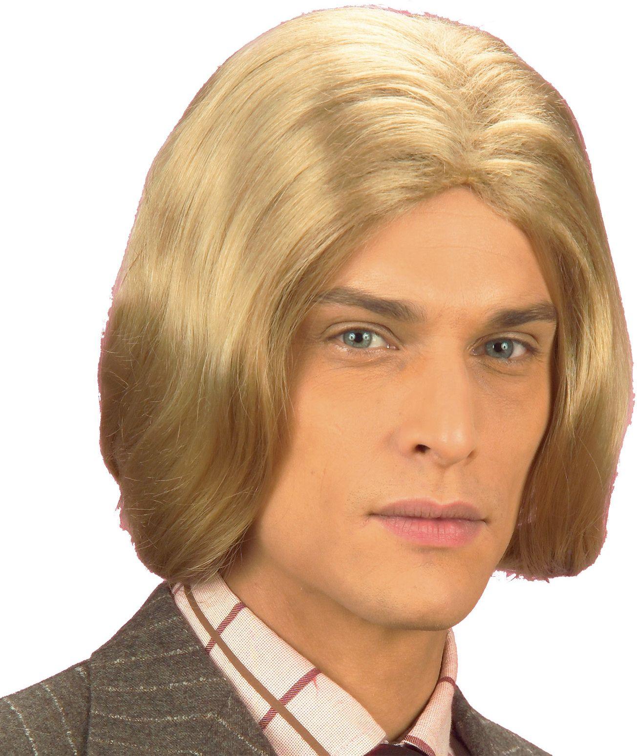 Blonde amadeus pruik