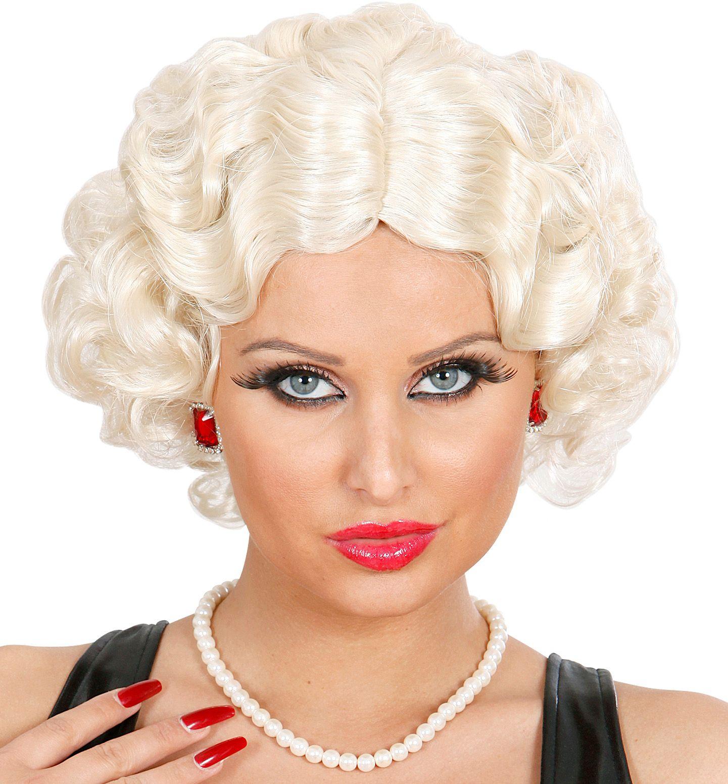 Blonde betty boop pruik