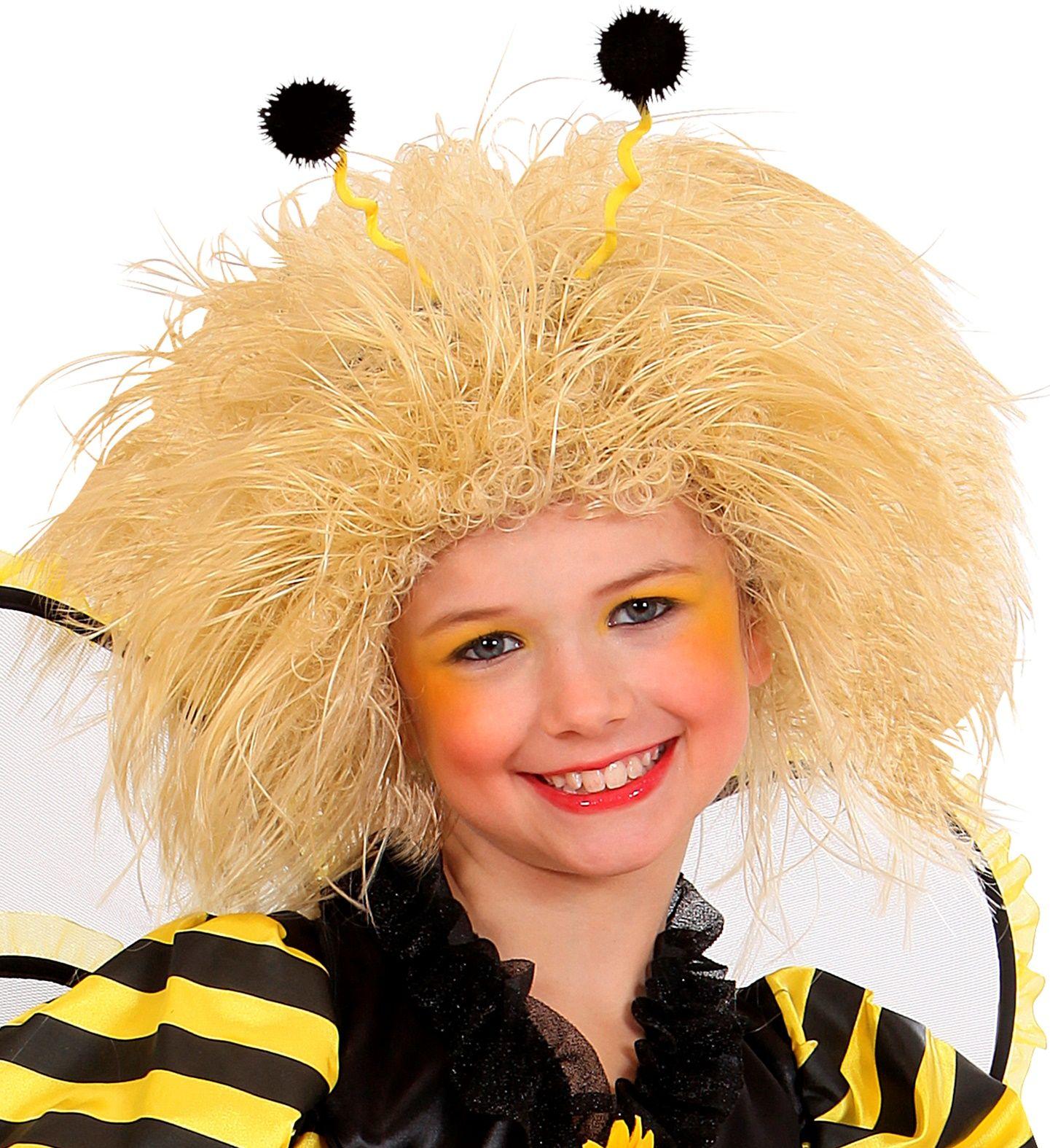 Blonde bijen pruik