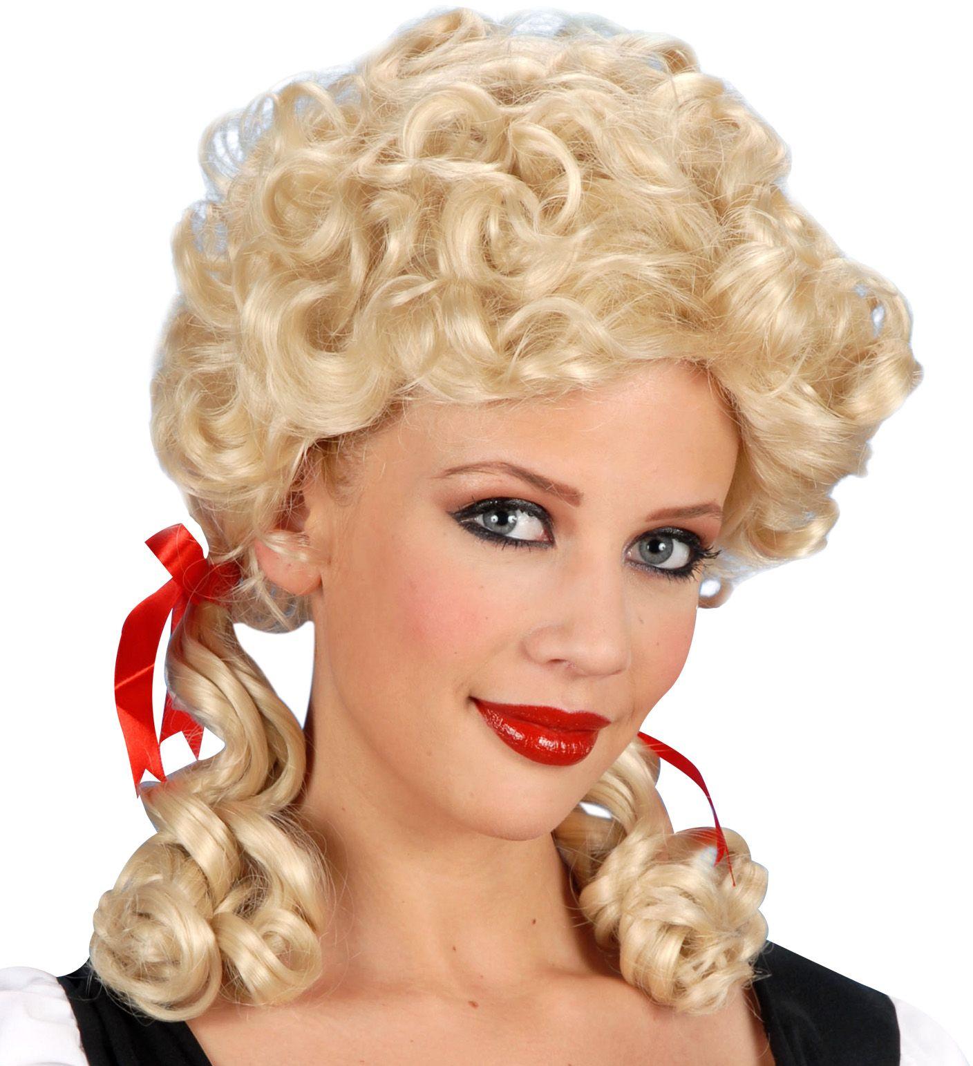 Blonde boerin pruik