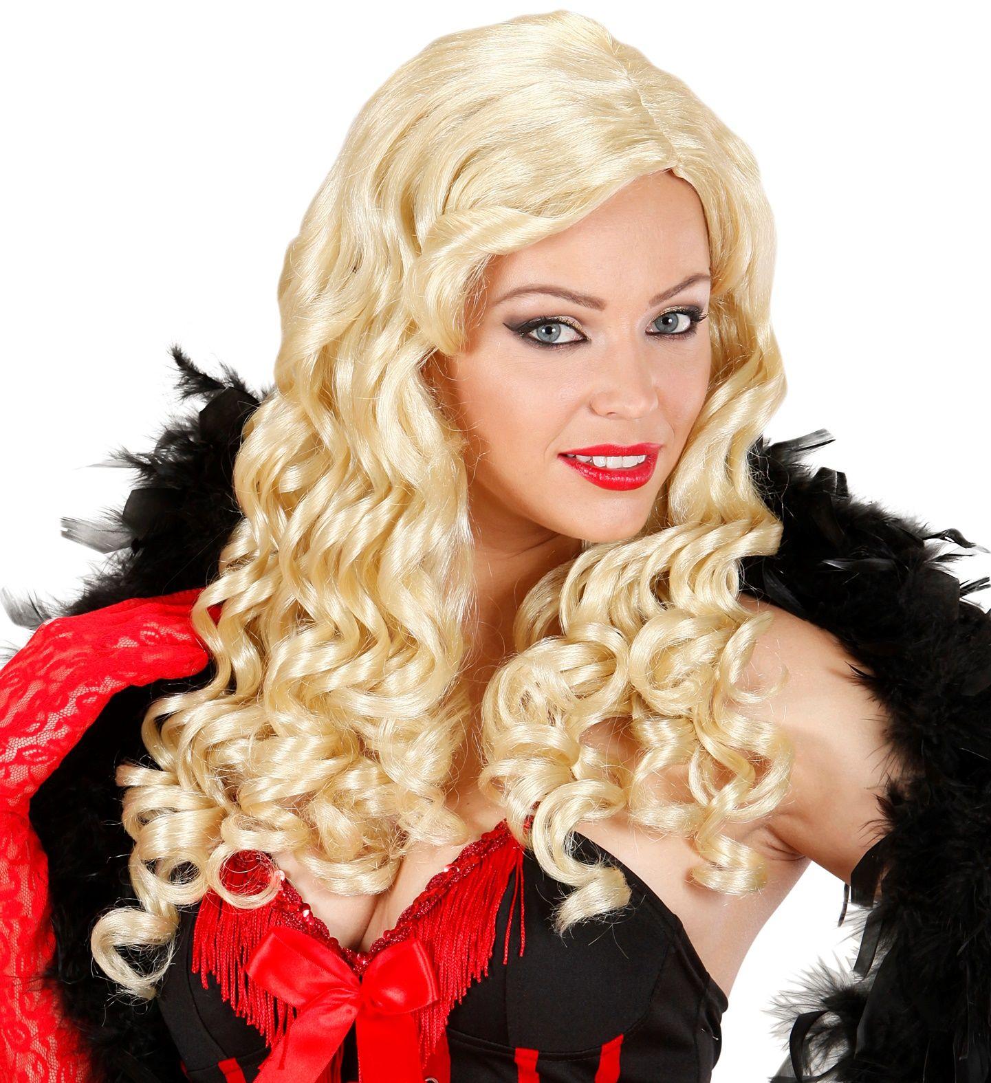 Blonde burlesque pruik