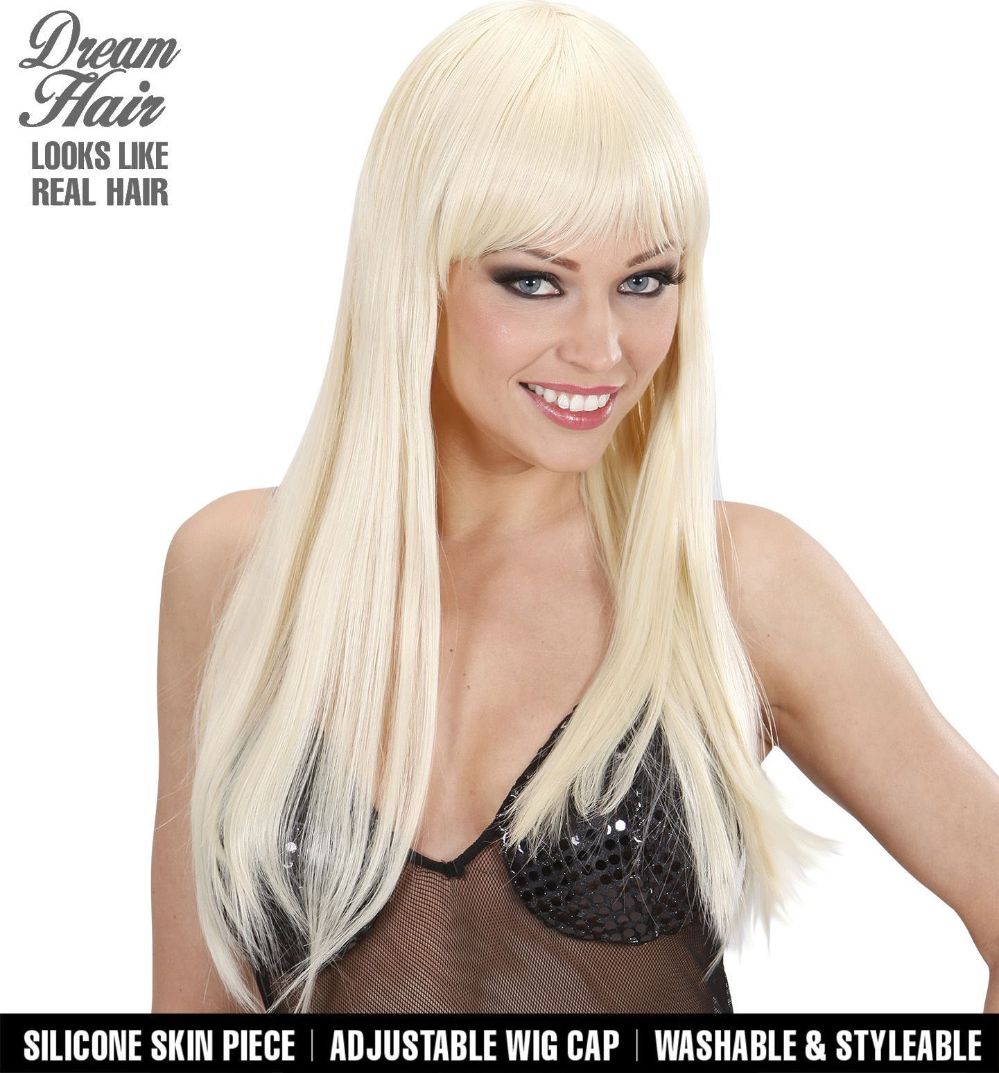 Blonde cherie pruik