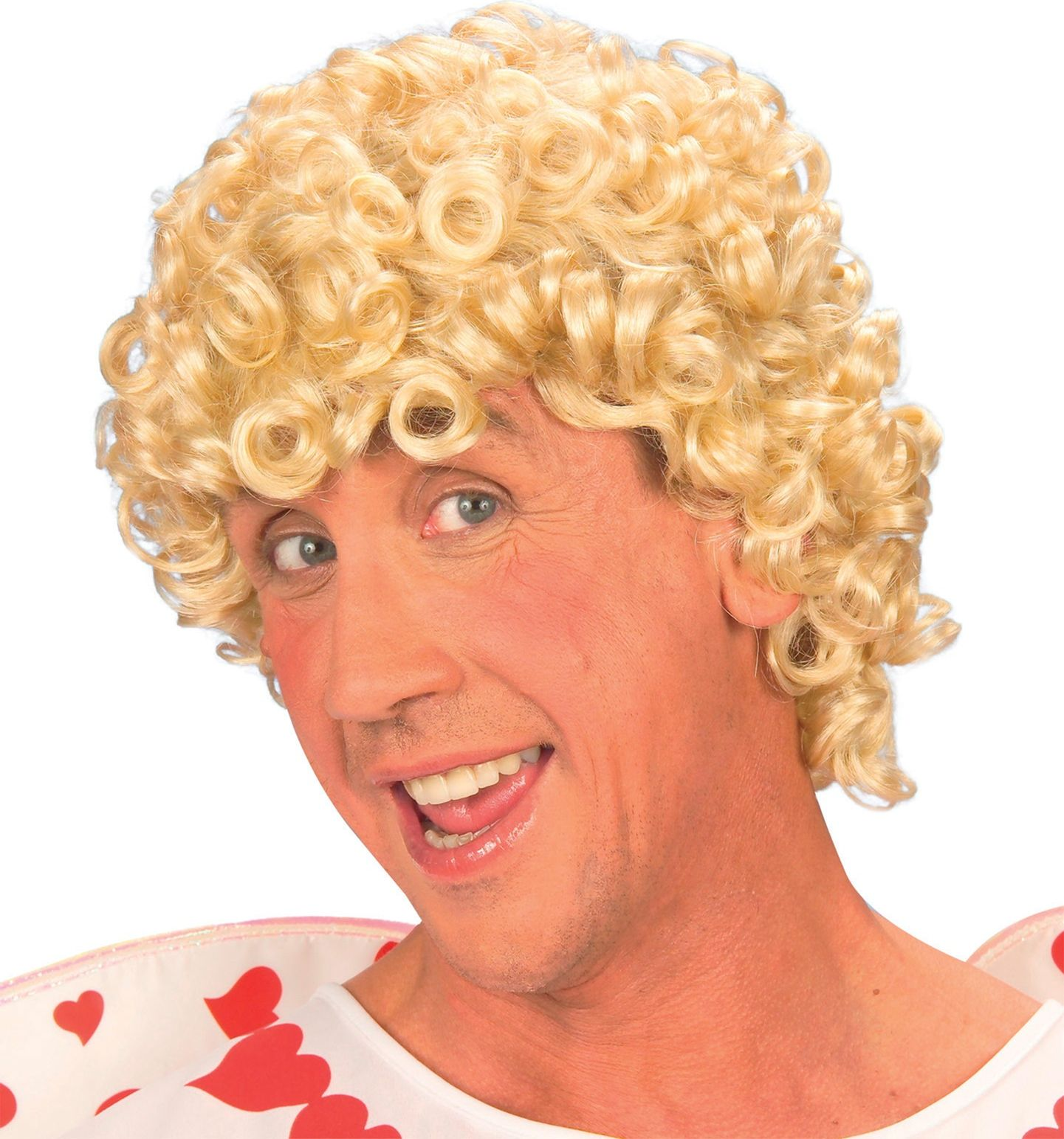 Blonde cupido pruik