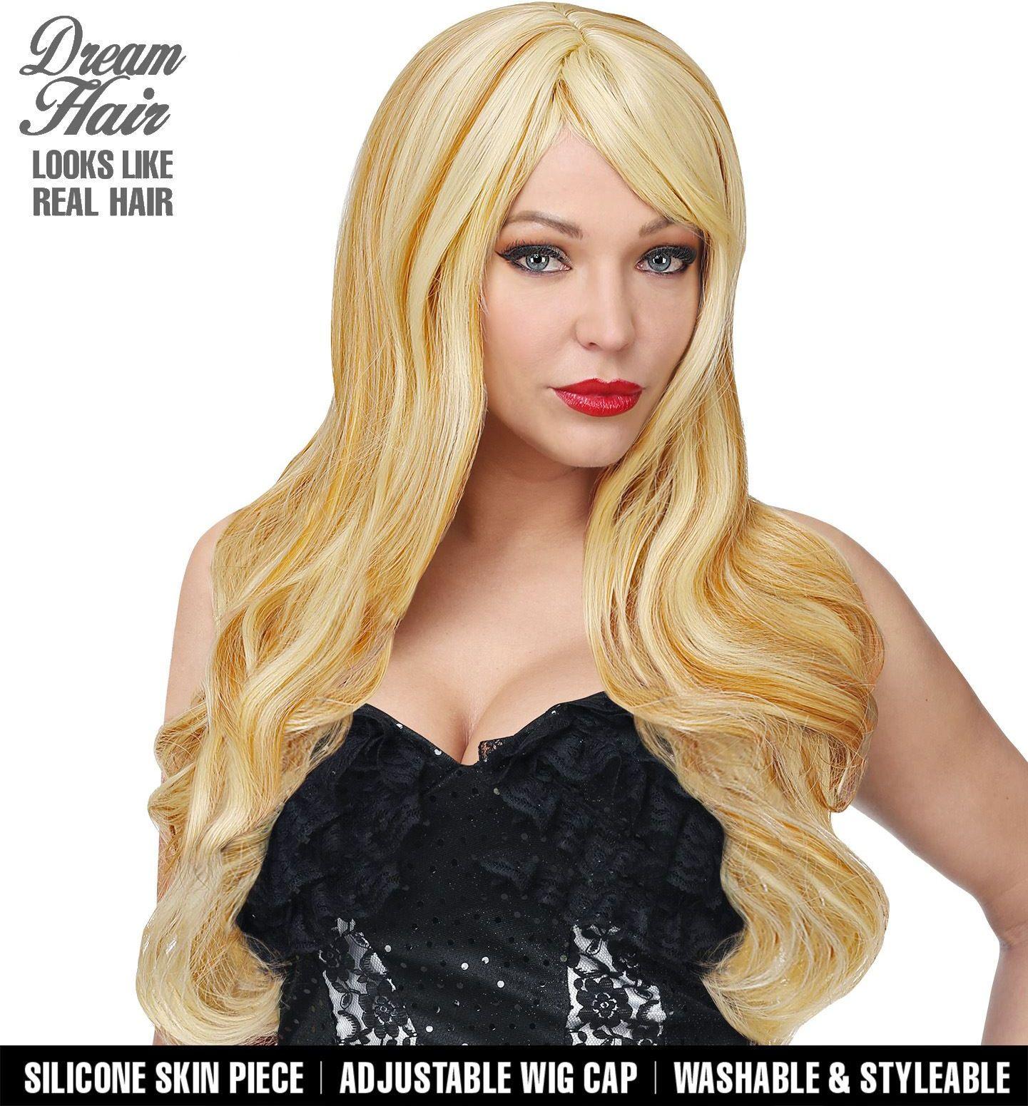 Blonde dames pruik