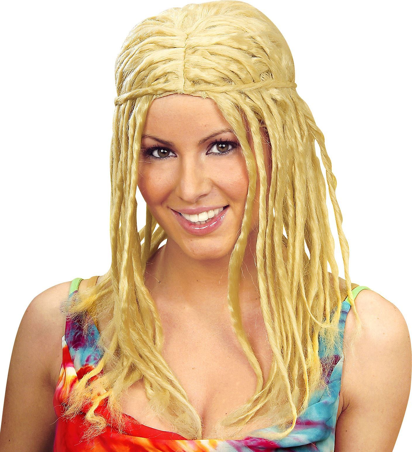 Blonde dreadlocks pruik