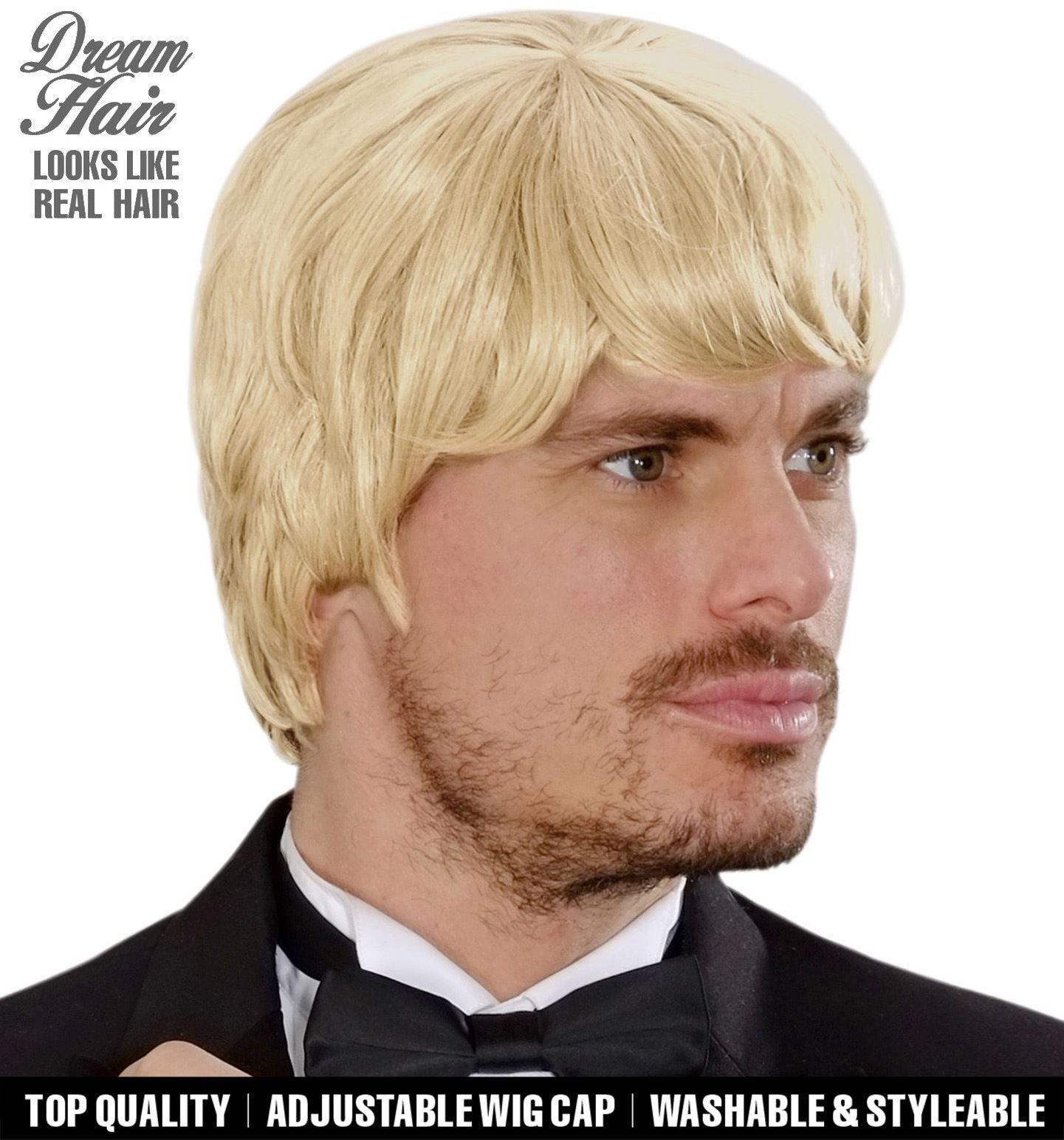 Blonde droomhaar pruik man