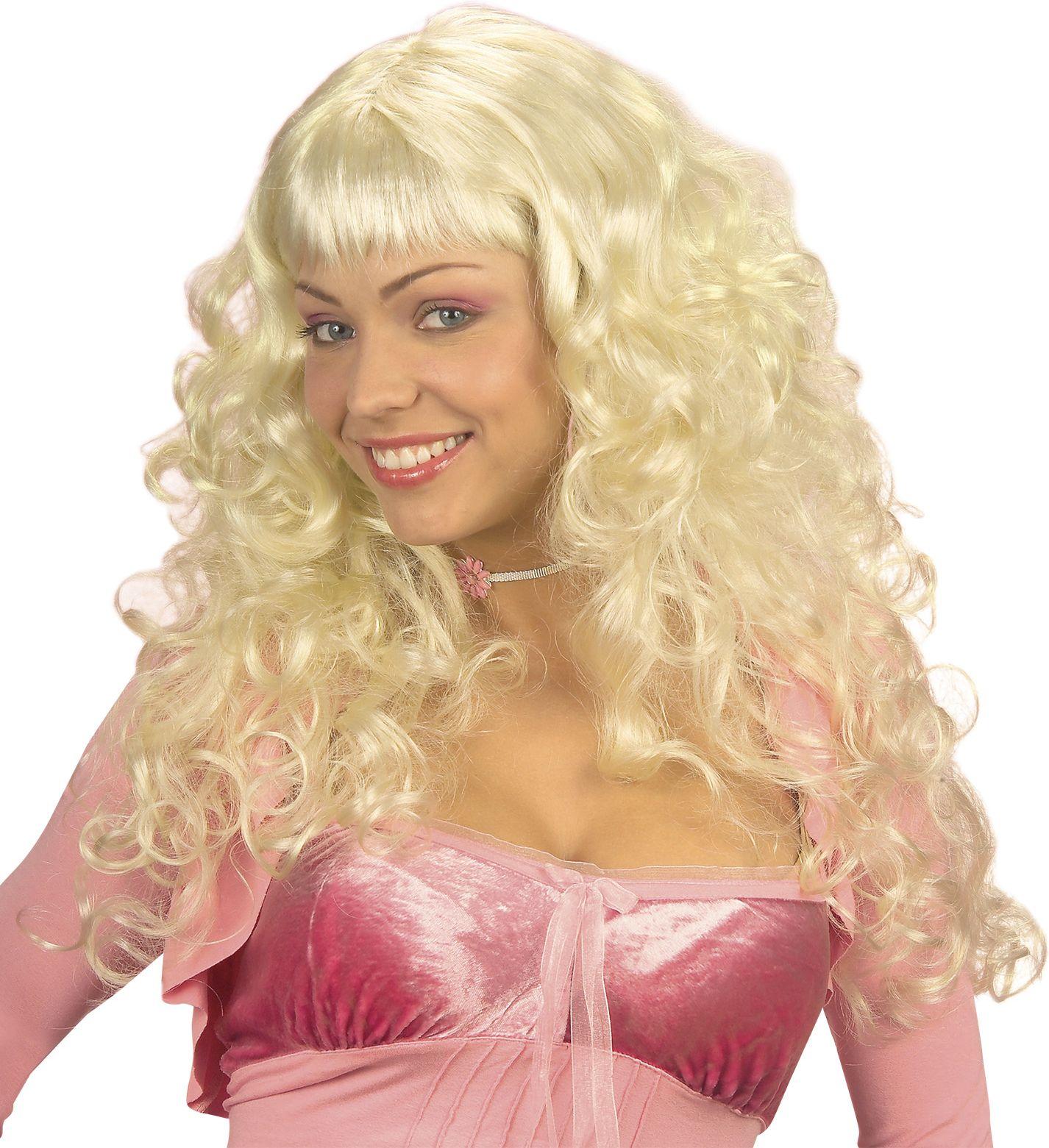 Blonde engel pruik