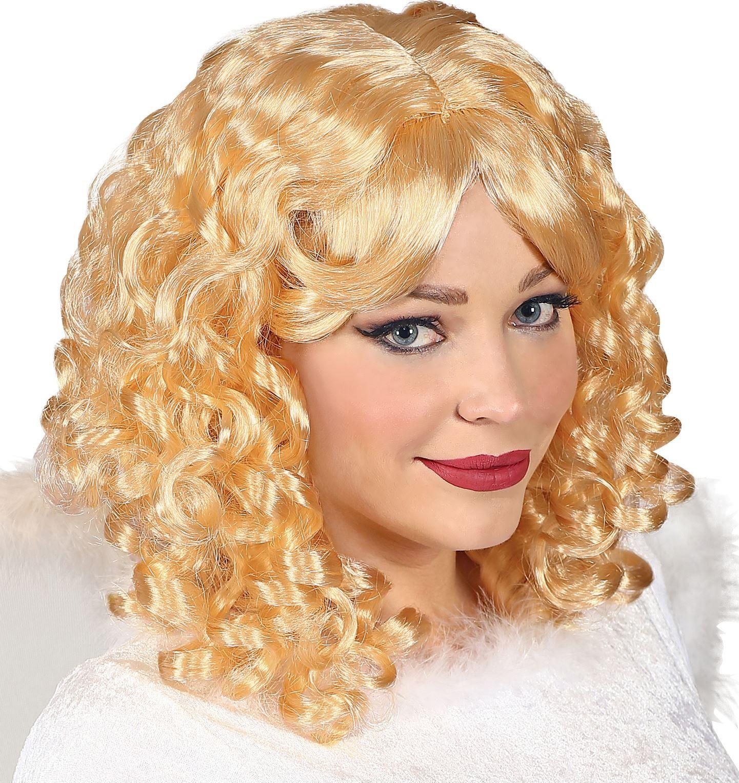 Blonde engelen pruik