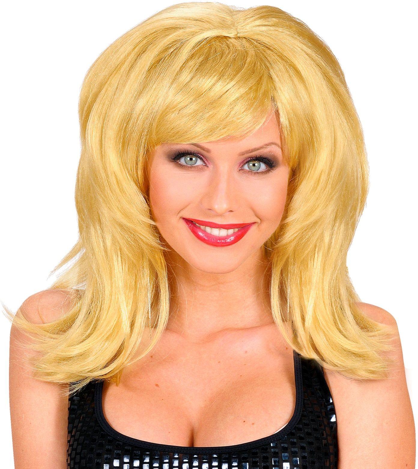 Blonde flirt pruik