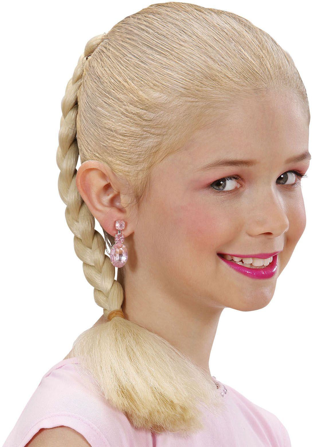 Blonde gevlochten haarextensie