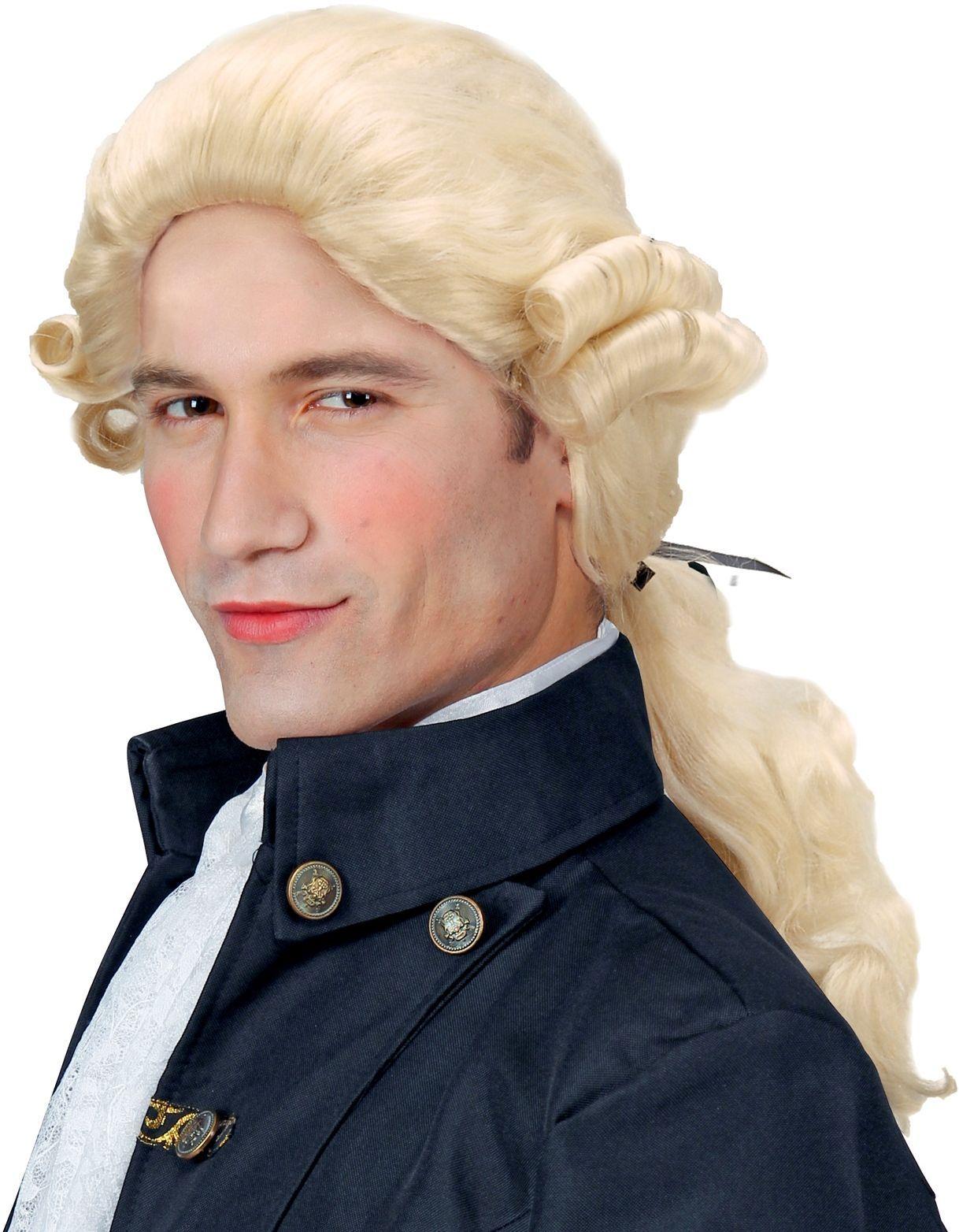 Blonde graaf pruik