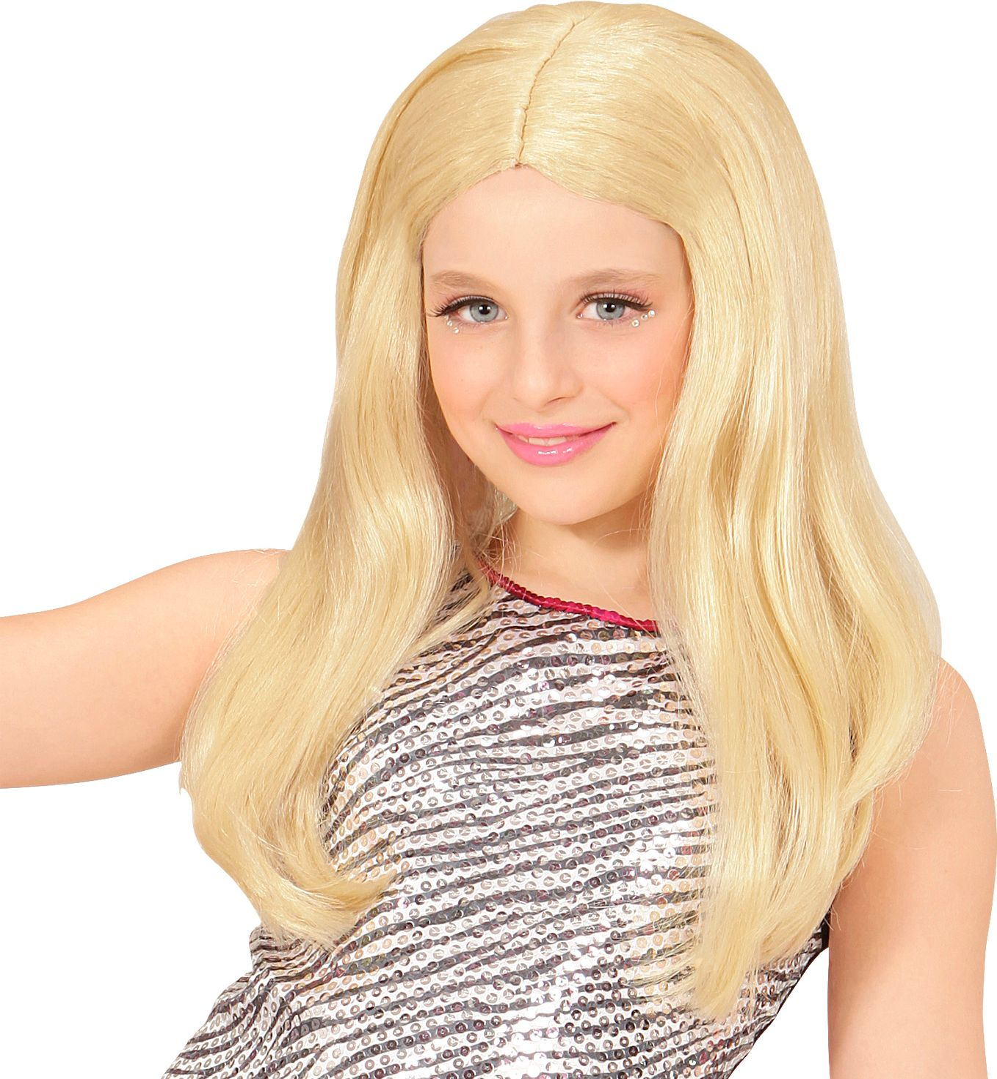 Blonde Hannah pruik