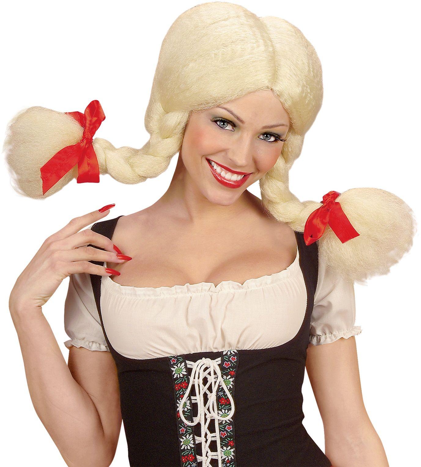 Blonde Heidi pruik