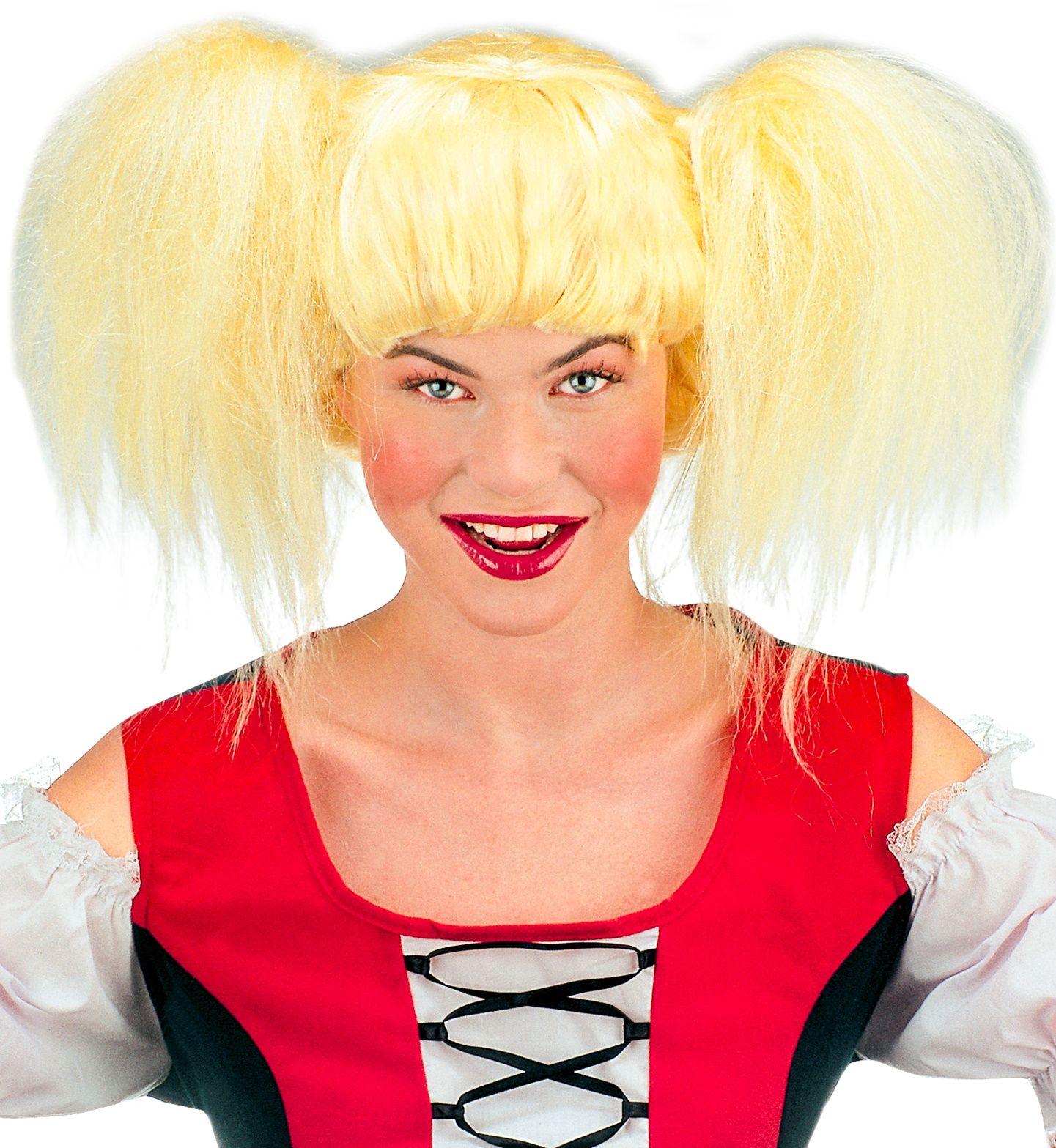 Blonde Heidi tiroler pruik
