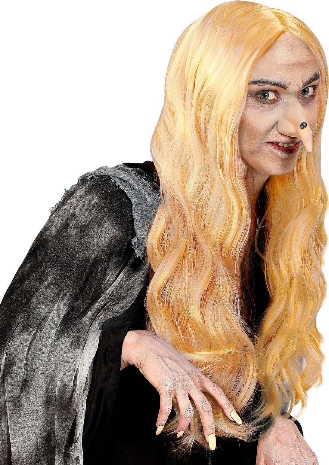 Blonde heksen pruik