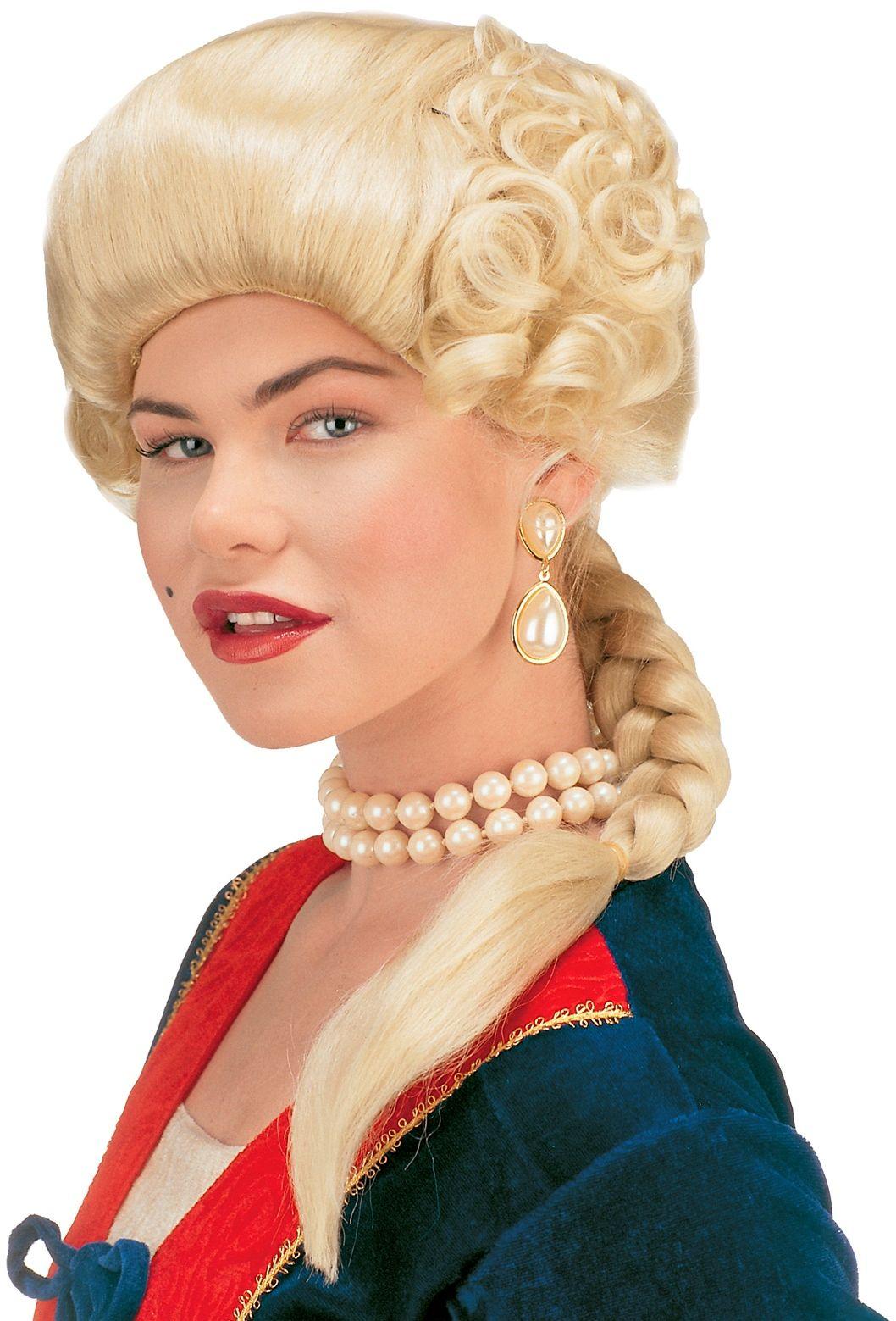 Blonde hertogin pruik