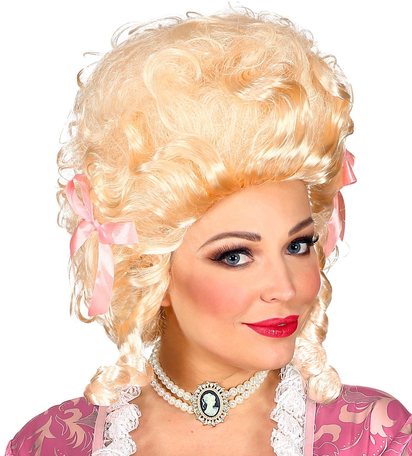 Blonde koloniale pruik dames
