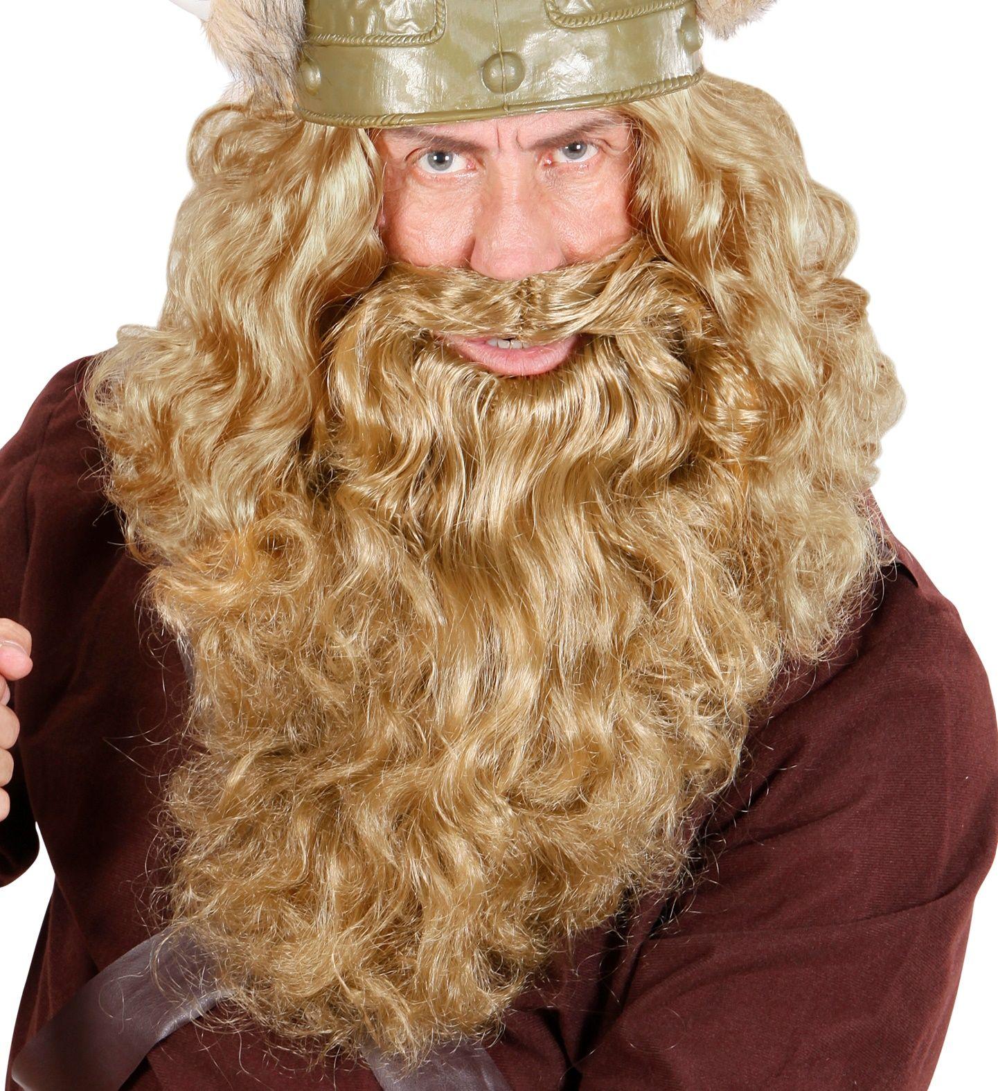 Blonde lange baard