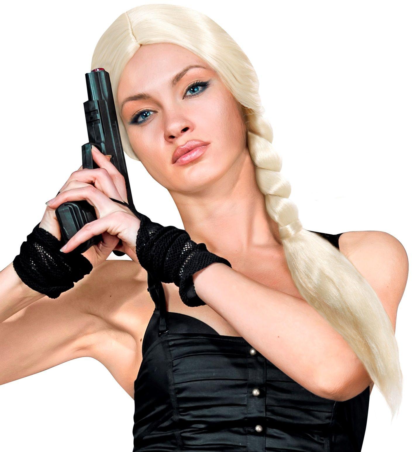 Blonde Lara pruik