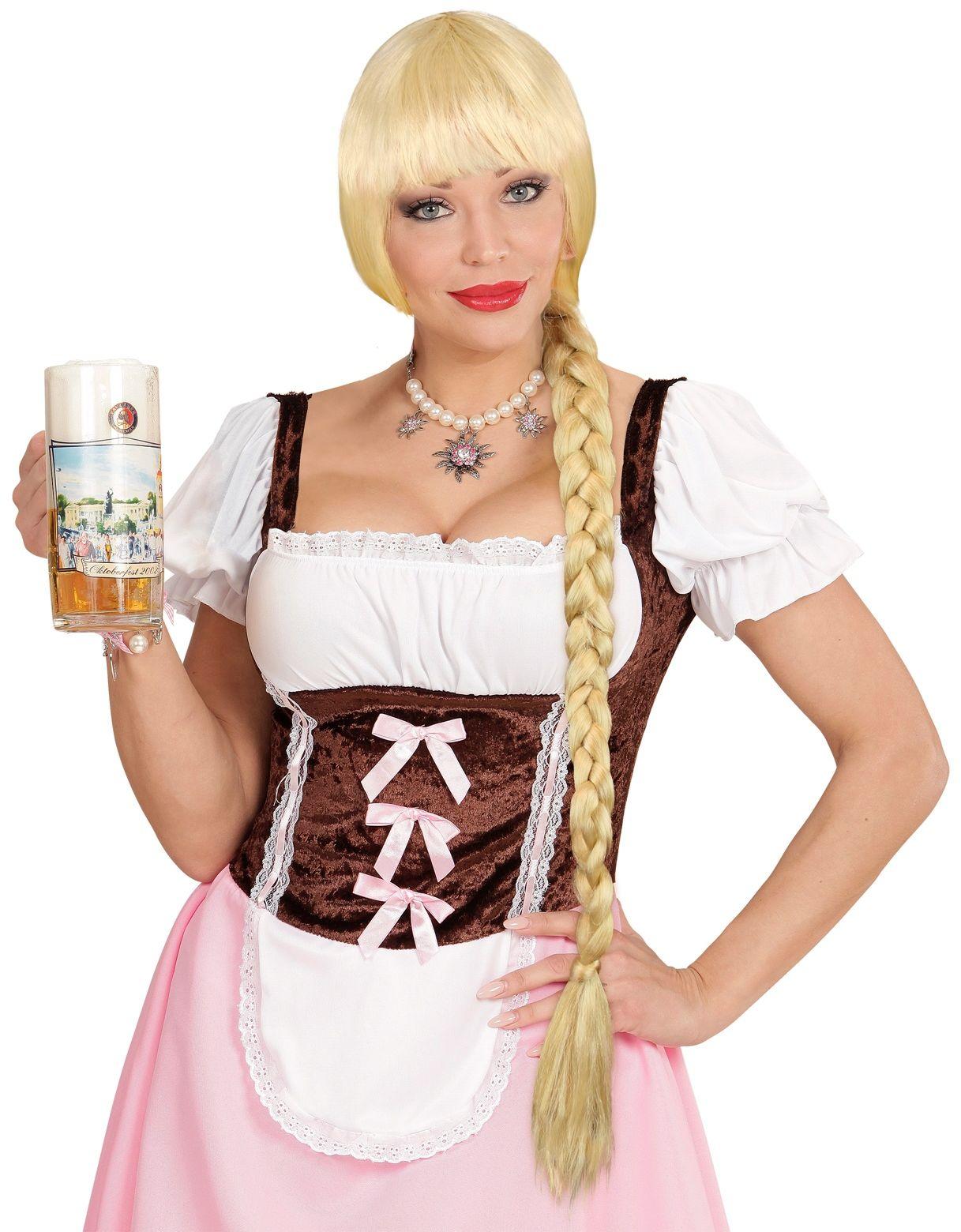 Blonde oktoberfest pruik
