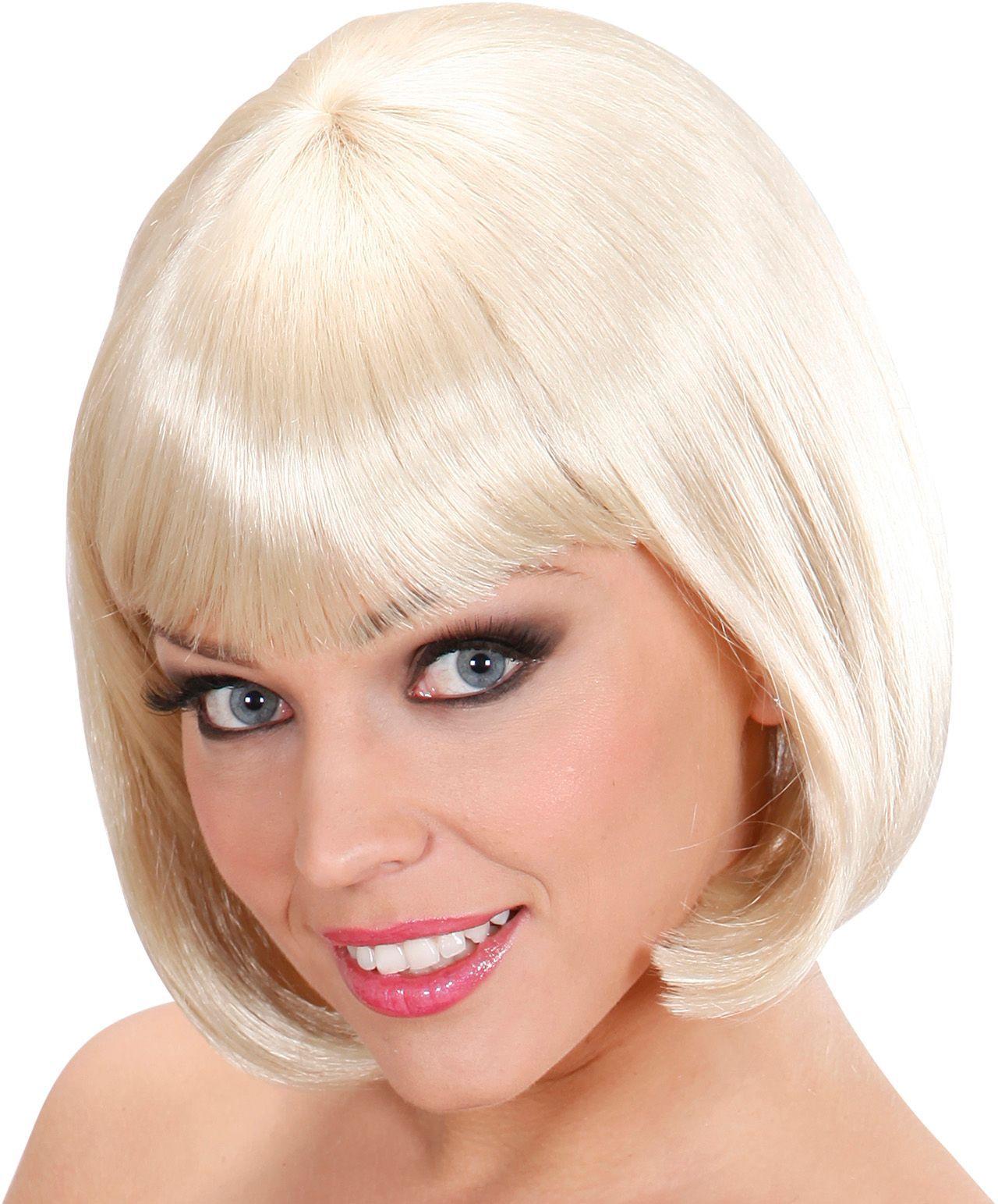 Blonde pruik kort haar