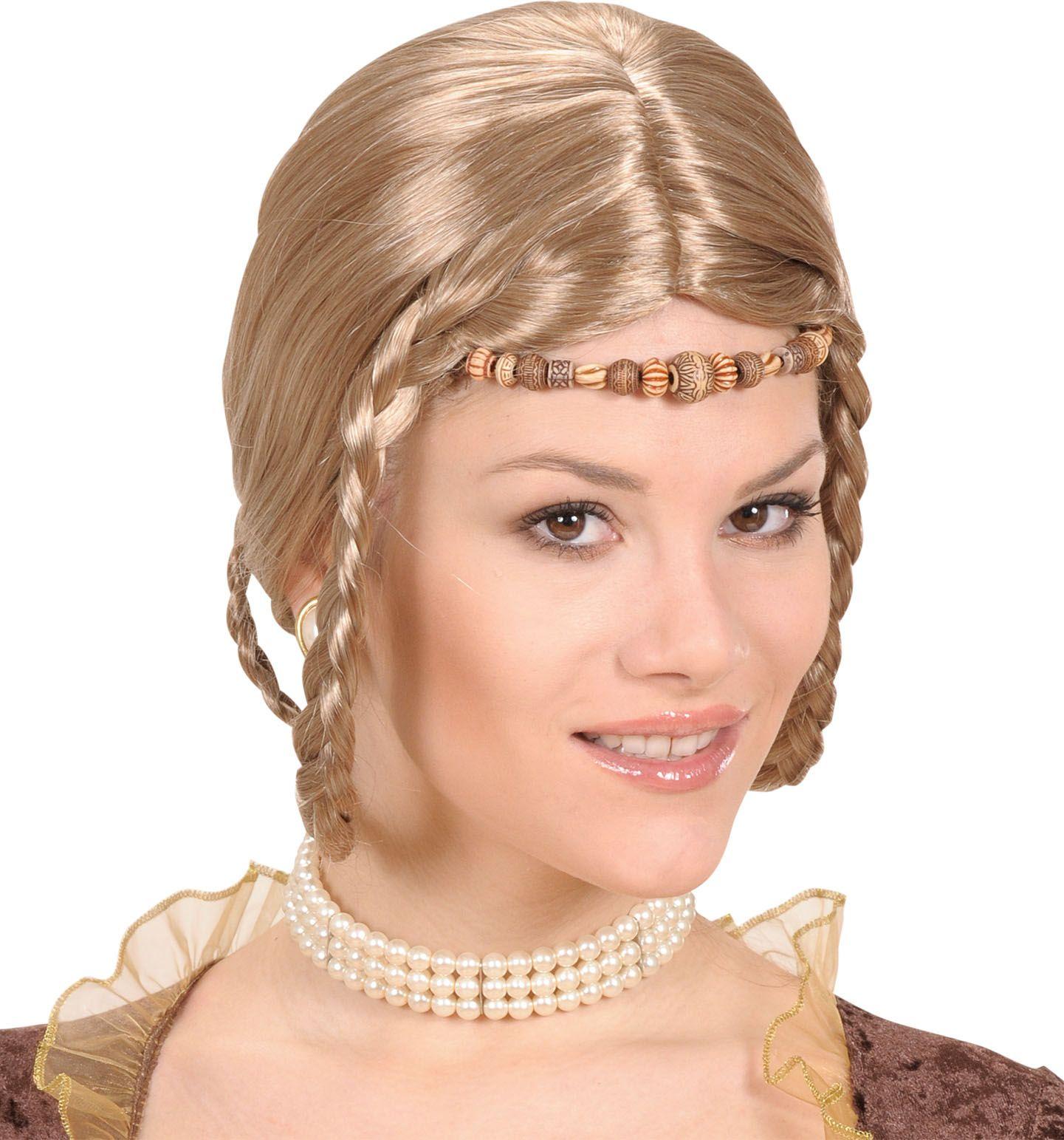 Blonde renaissance prinses pruik