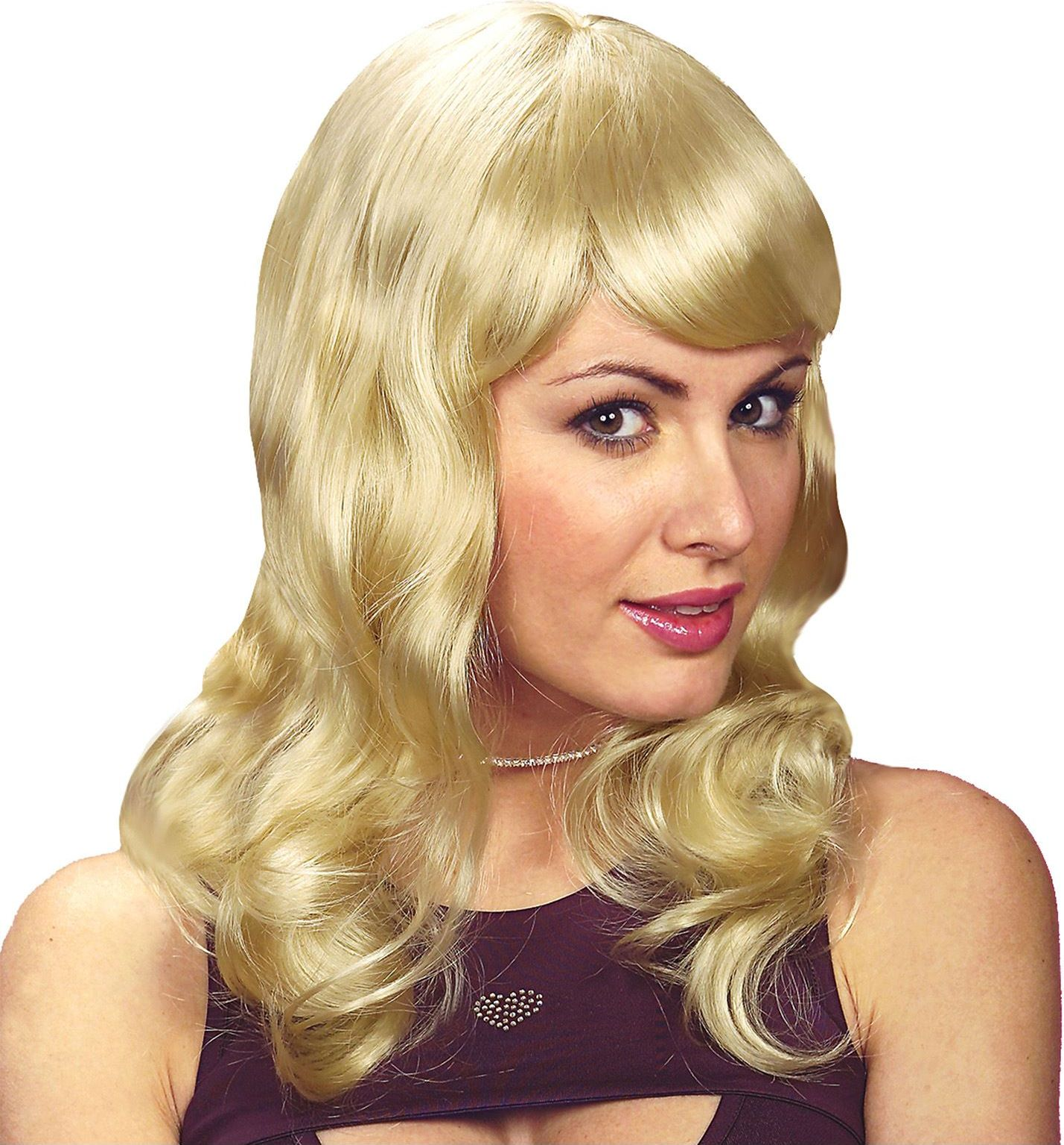 Blonde Sarah pruik