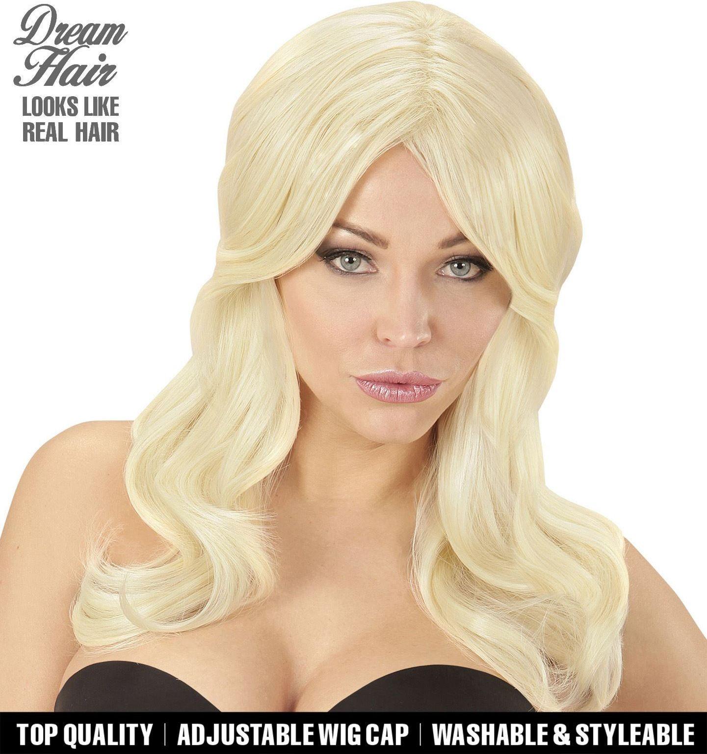 Blonde sterren pruik