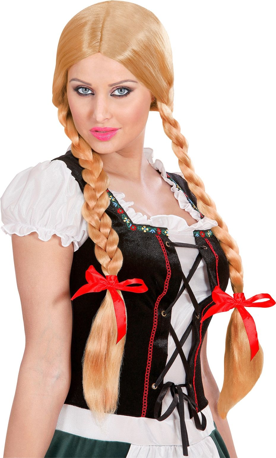 Blonde tiroler pruik