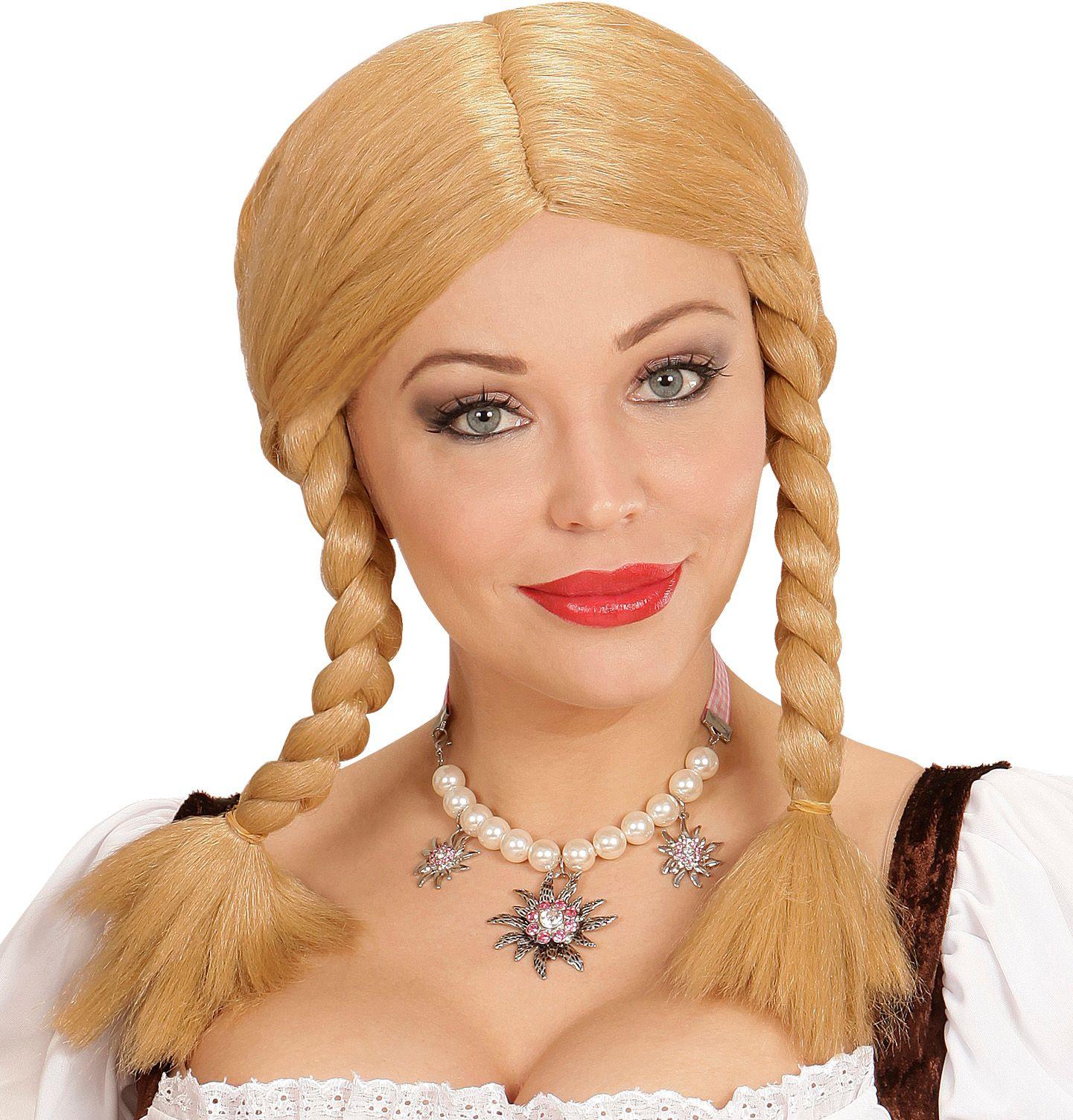 Blonde wendy pruik
