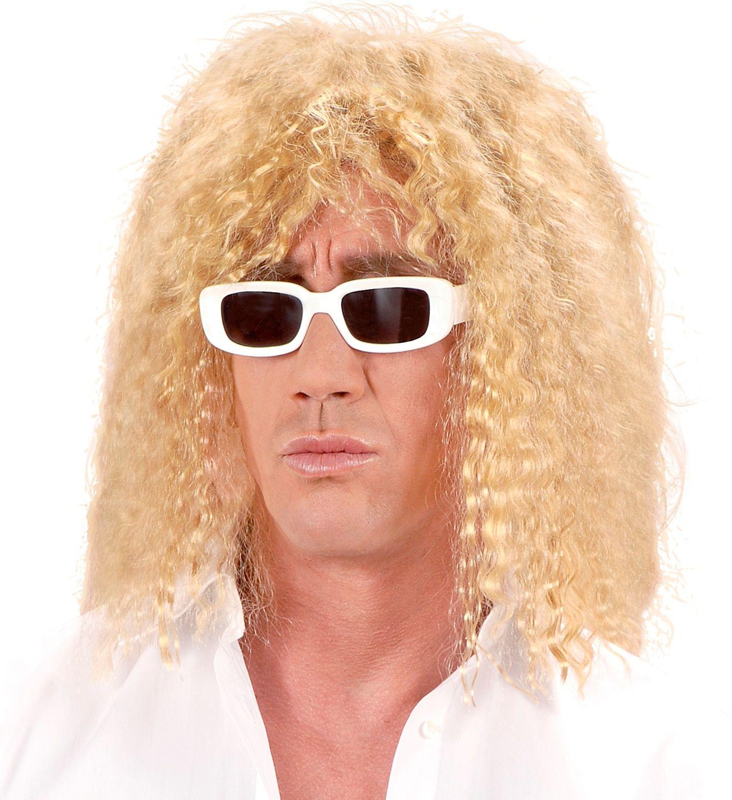 Blonde zanger pruik