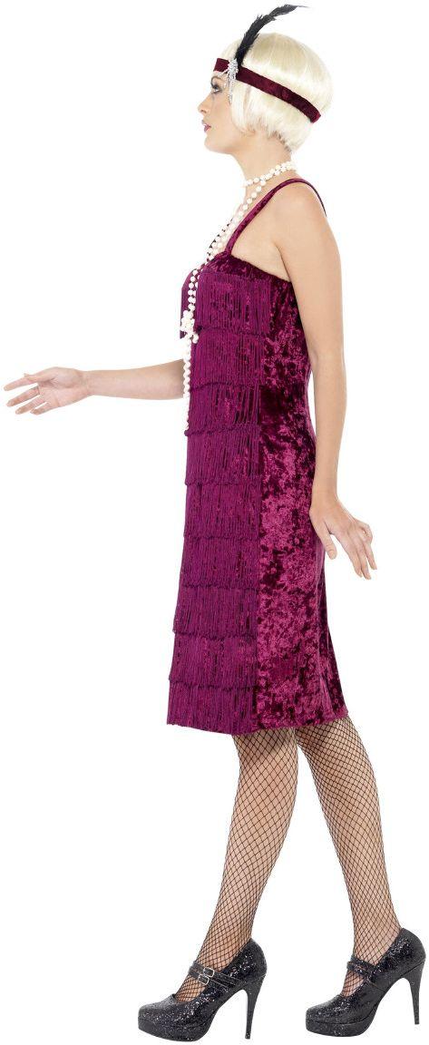 Bordeaux rode jazz flapper jurk