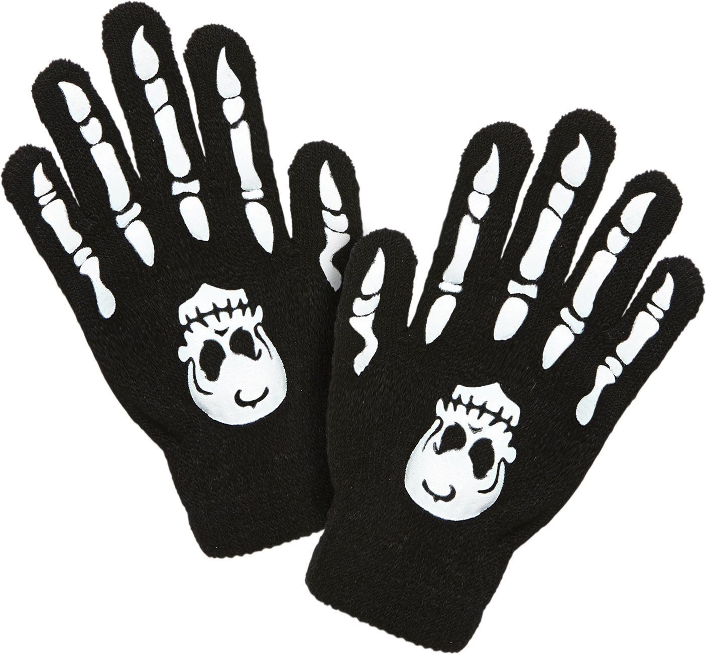 Botten met schedel handschoenen