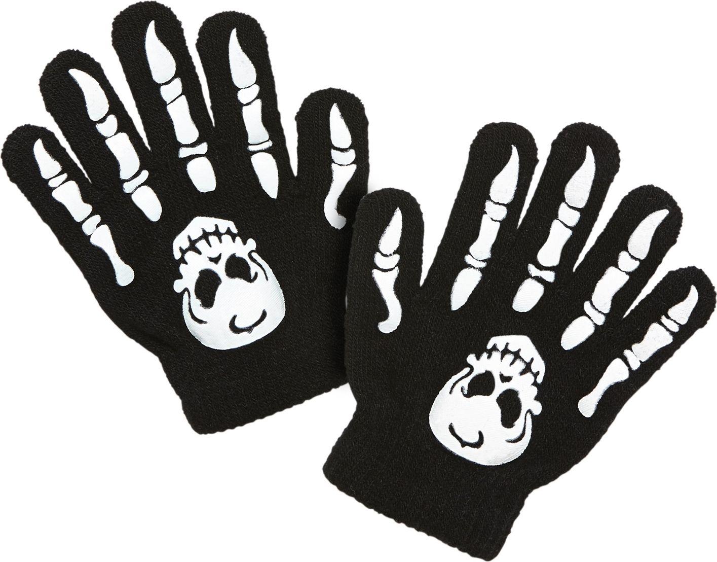 Botten met schedel handschoenen kind