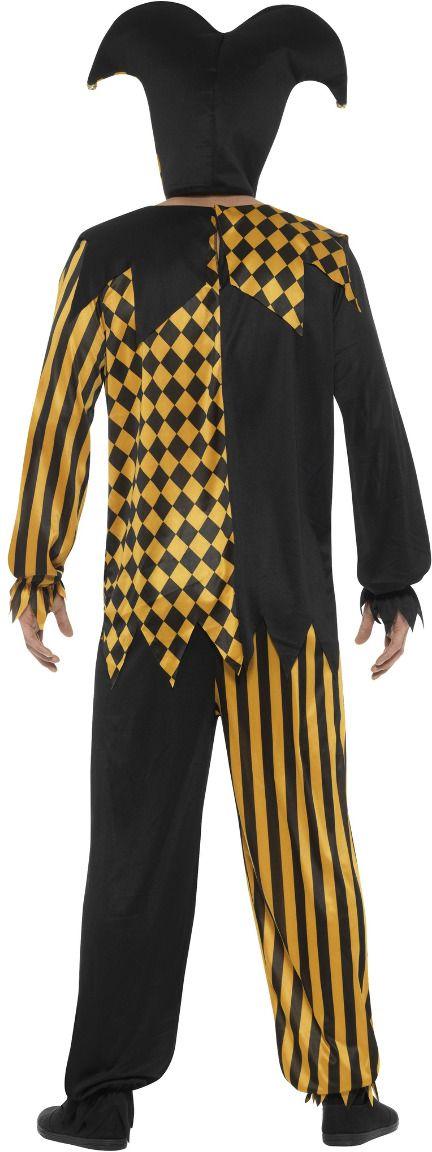 Boze nar kostuum zwart goud