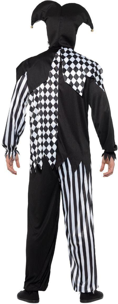 Boze nar kostuum zwart wit
