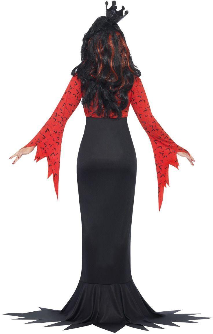 Boze rode koningin outfit