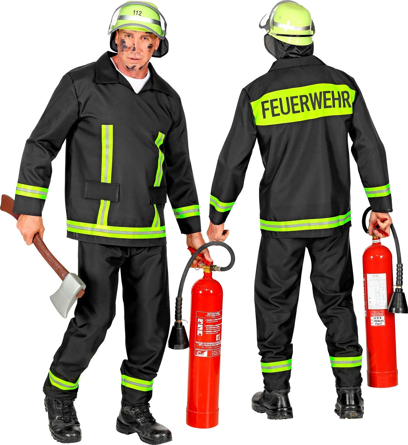 Brandweer carnaval pak