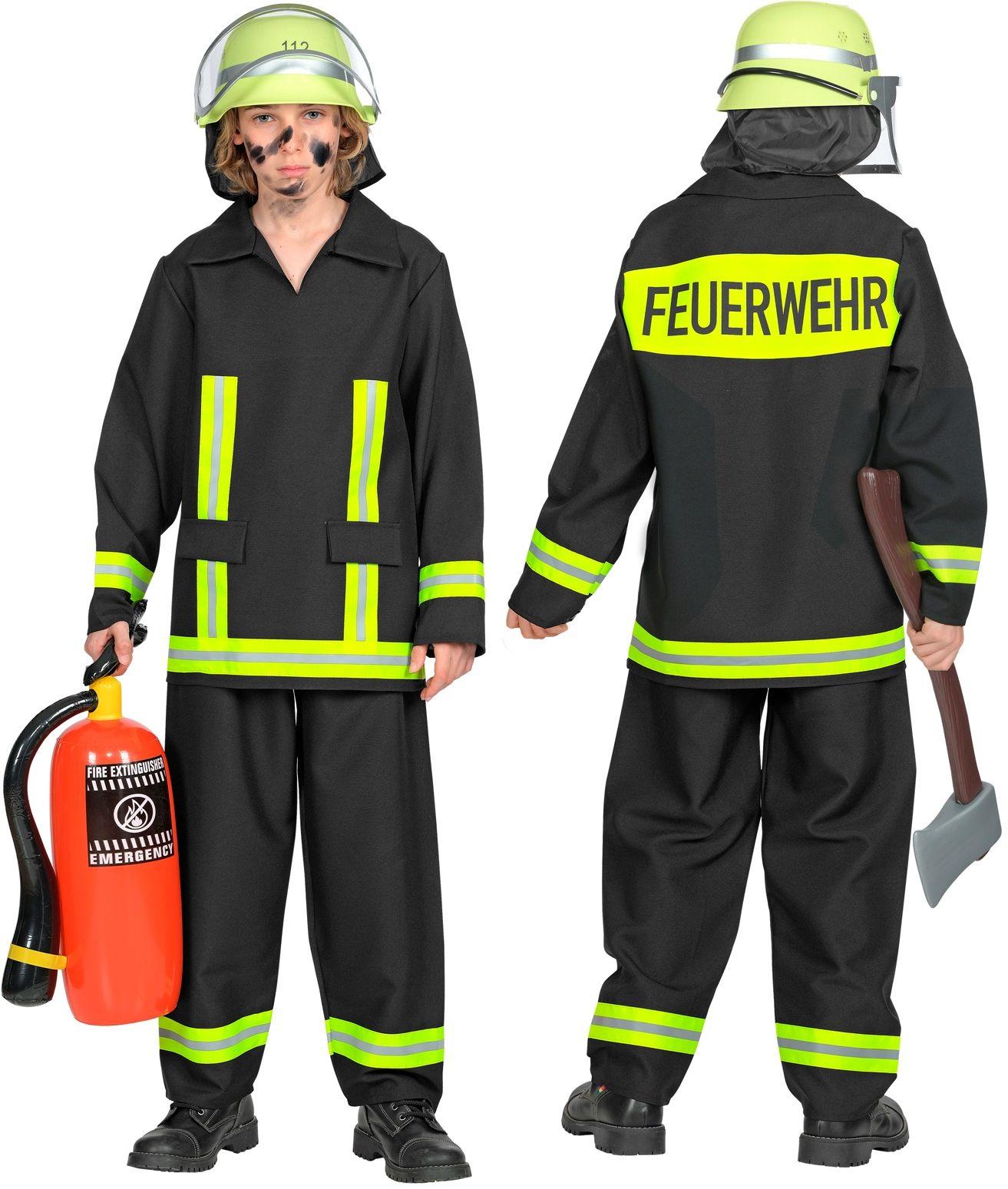 Brandweer carnaval pak kind