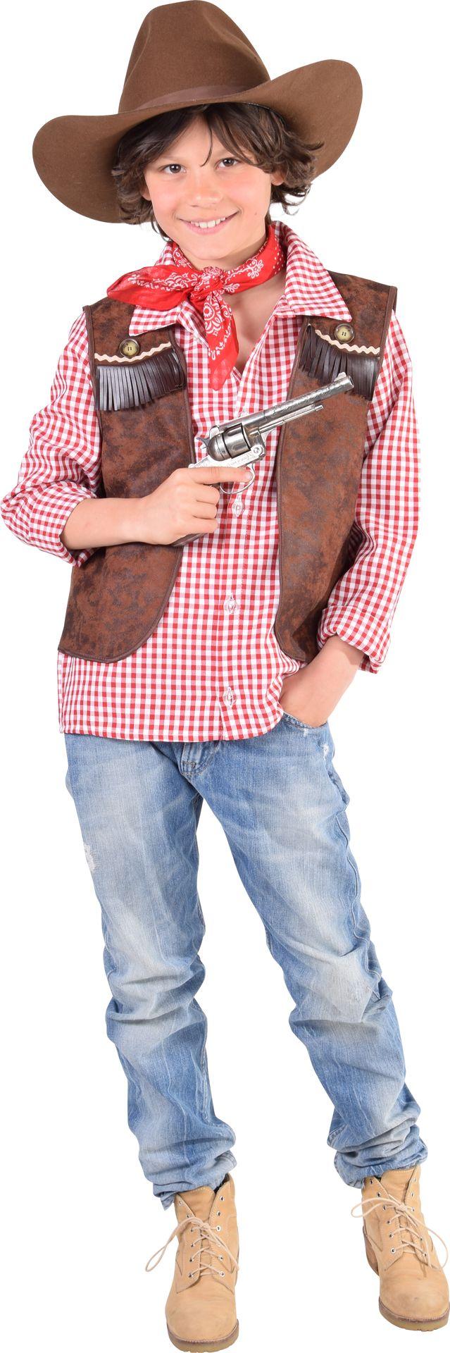 Bruin cowboy vest kinderen