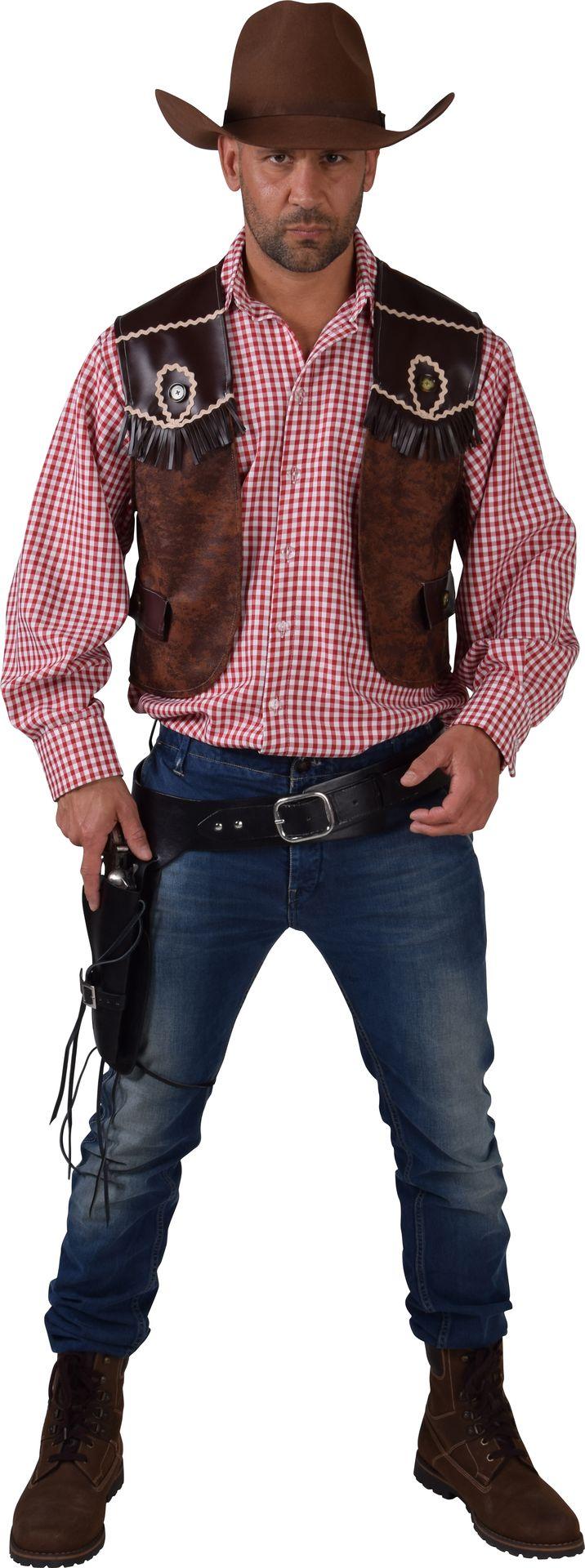 Bruin cowboy vest mannen
