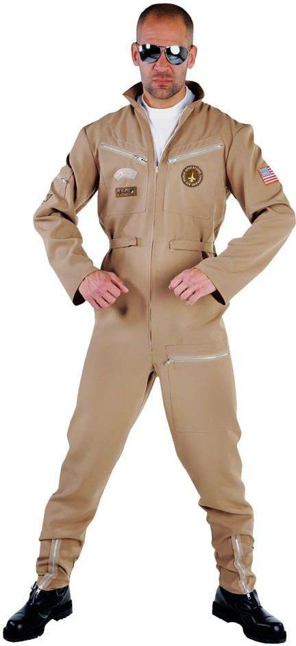 Bruin gevechtspiloot uniform heren