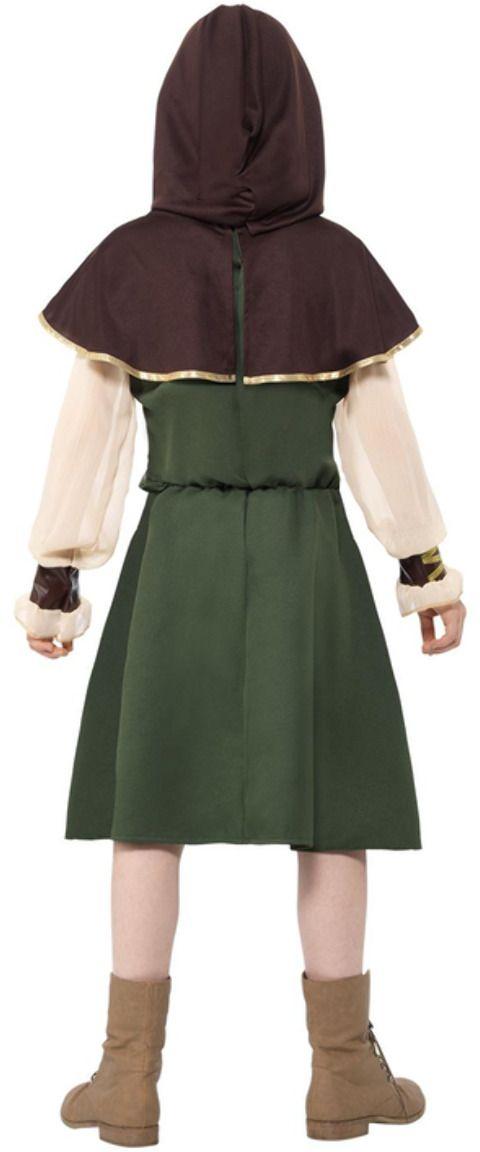 Bruin groen robin hood meisjes kostuum