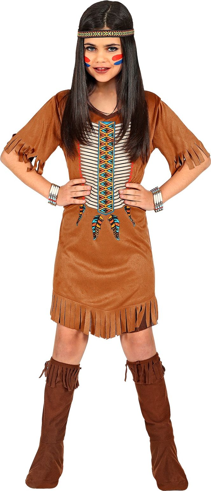 Bruin indianen jurkje meisjes