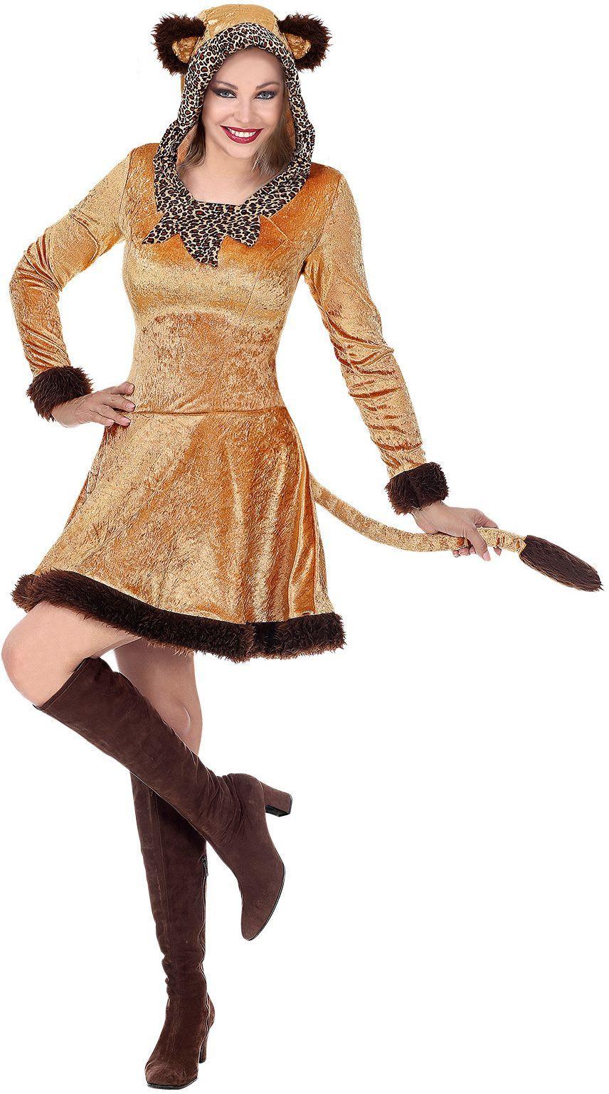 Bruin panter jurkje dames