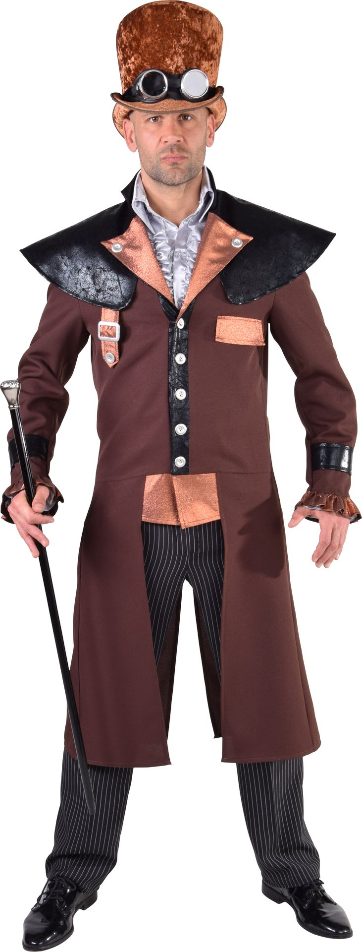 Bruin steampunk outfit heren