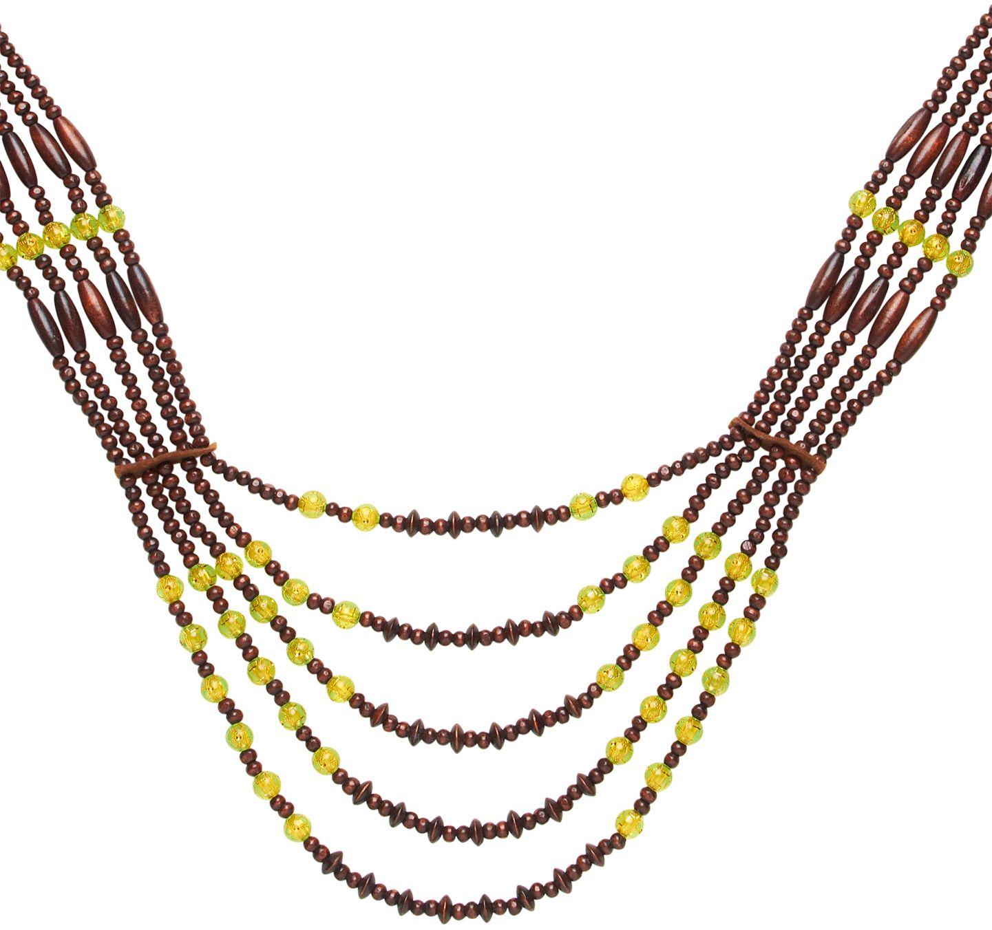 Bruine afrikaanse stammen ketting